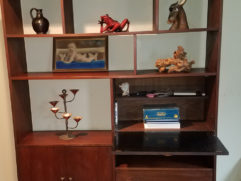 Wall unit front open